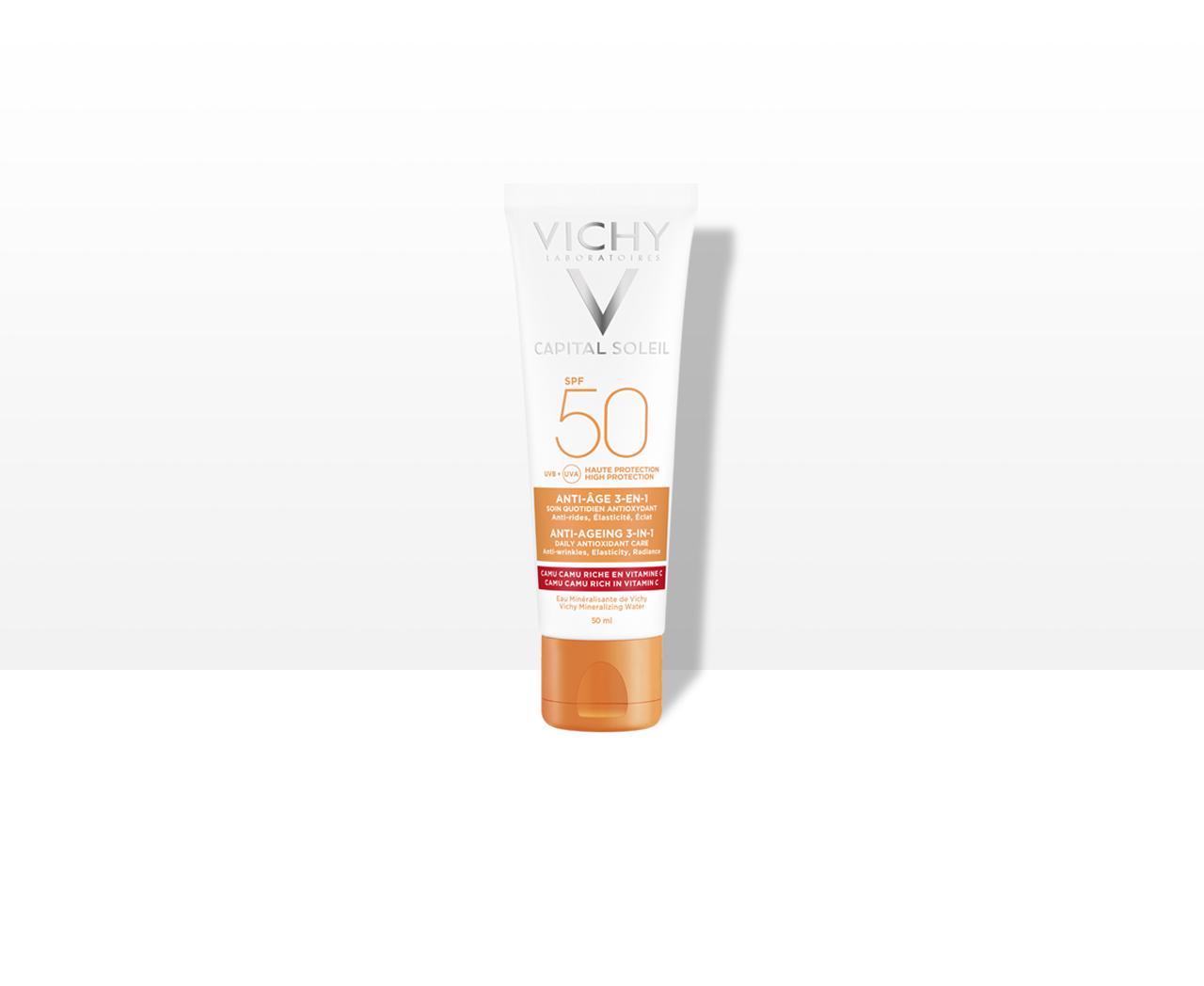 Öregedésgátló,   antioxidáns napvédő krém SPF 50