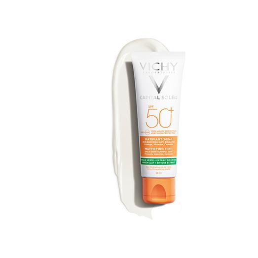 Mattító 3-in-1 napvédő krém SPF 50+